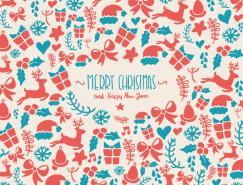 圣诞装饰图案元素背景矢量素材