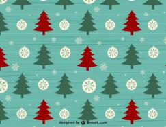 圣诞树和雪花背景矢量素材