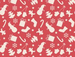 圣诞装饰元素无缝背景矢量素材(2)