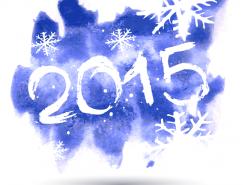 2015水彩艺术字矢量素材(2)