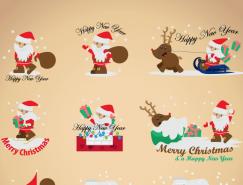 9个卡通圣诞老人矢量素材