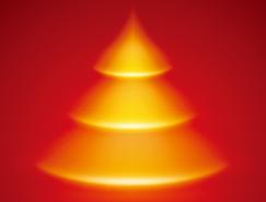 漂亮的光效圣诞树背景海报设计矢量素材