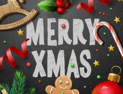 圣诞装饰背景矢量素材
