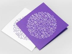 30個漂亮的聖誕賀卡設計欣賞