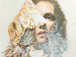 双重曝光: Oriol Angrill Jordà创意女孩肖像画