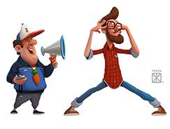 45个精致有趣的卡通角色设计作品