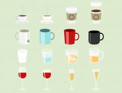 各种杯子矢量素材