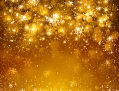 金色雪花背景矢量素材