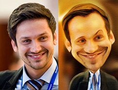利用PS液化滤镜把帅哥头像转为搞笑漫画头像