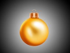 Photoshop制作漂亮的金色圣诞球