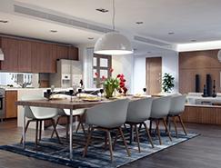 現代時尚的家居餐廳設計欣賞