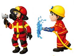 6个卡通消防员矢量素材