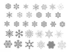 32款雪花PSD素材