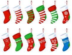 12款圣诞袜PSD素材