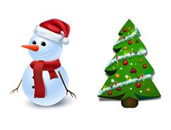 8款圣诞图标PNG素材