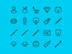 牙科治疗工具图标PSD素材