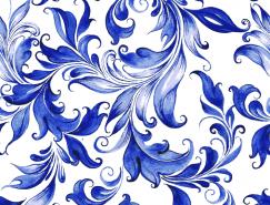 漂亮的蓝色花纹背景矢量素材(1)