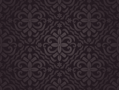 复古华丽的花纹背景矢量素材(4)