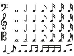 各种音乐符号矢量素材