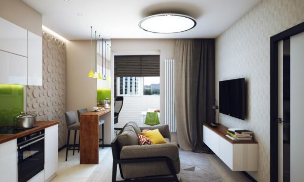 47平米一居室装修效果图设计