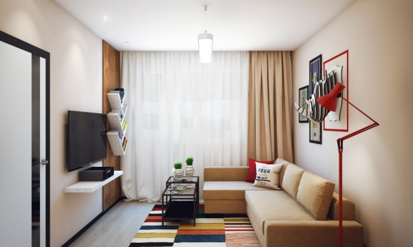 47平米一居室装修效果图设计(2)