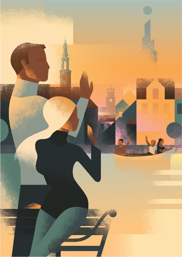 Mads Berg古典装饰风格插画作品欣赏