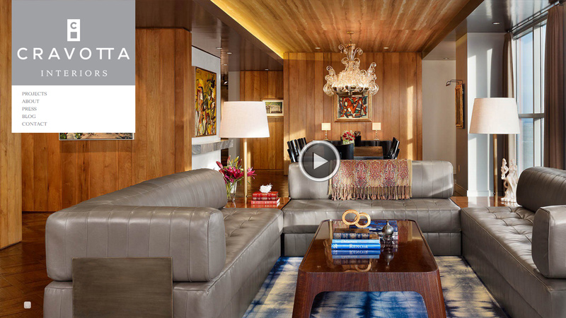 33个国外室内设计和装饰公司网站欣赏