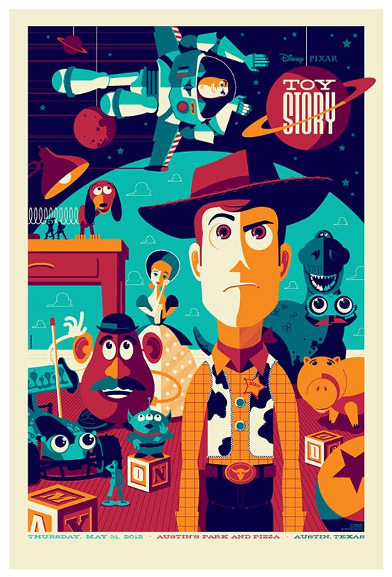 全球资讯_Tom Whalen复古风格插画海报设计欣赏 - 设计之家