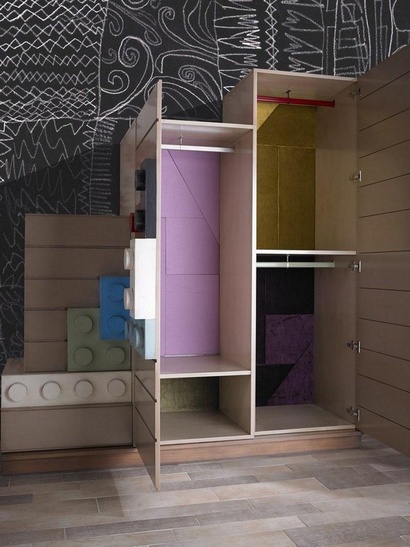 乐高积木风格儿童房家具设计 设计之家