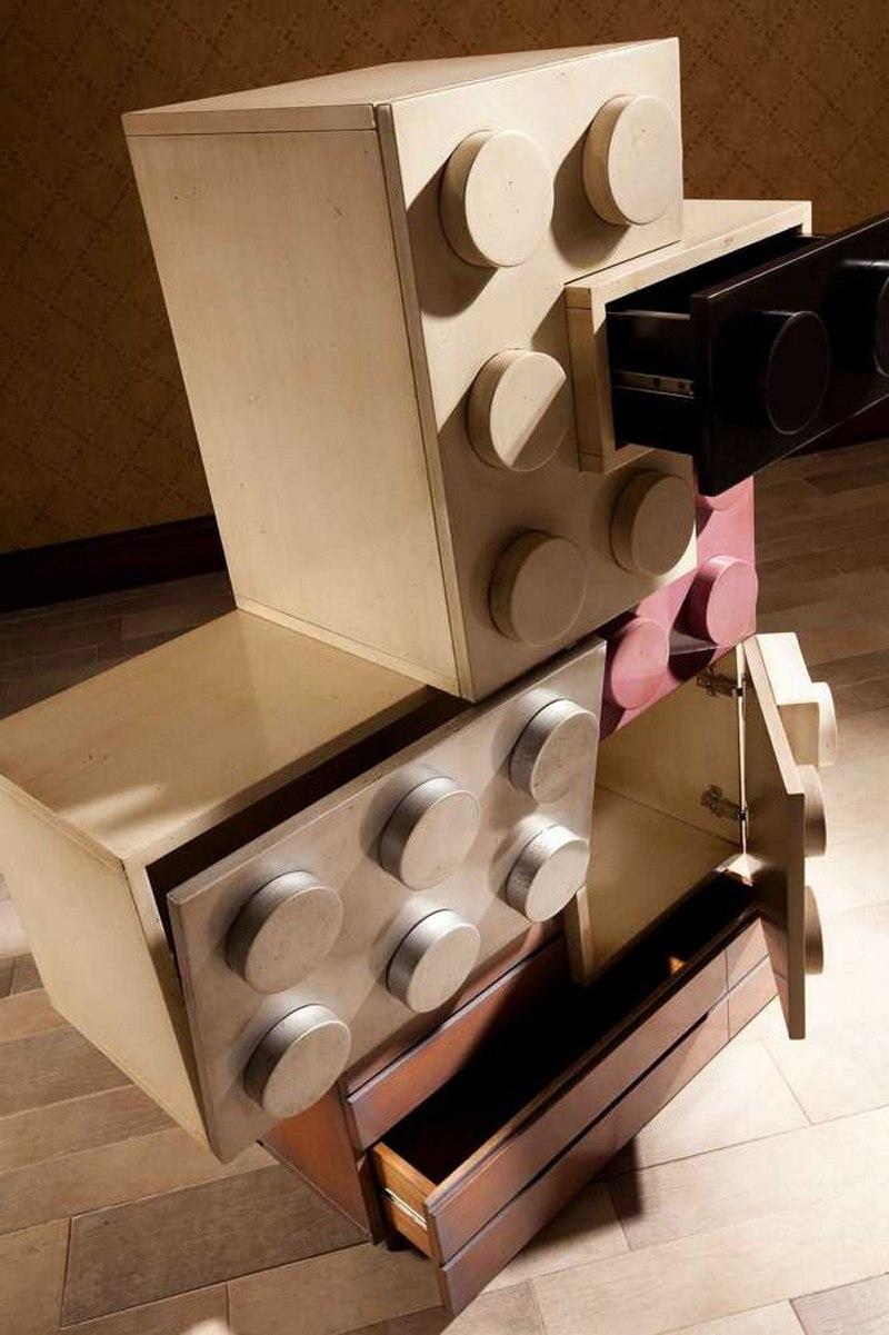 乐高积木风格儿童房家具设计