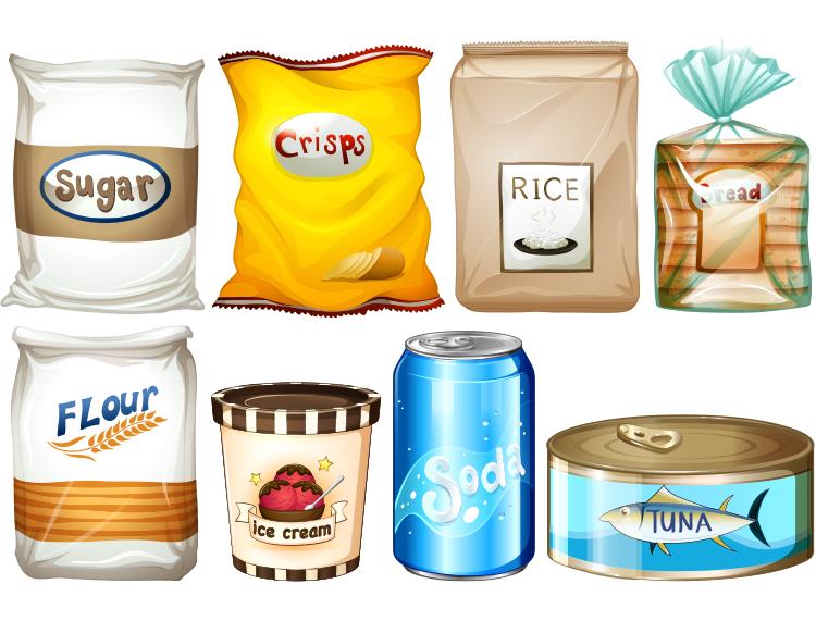 ai格式,大米袋,面粉袋,面包包装袋,罐头,易拉罐,冰淇淋杯,包装,矢量图片