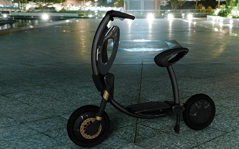 INU自动折叠智能电动车图片