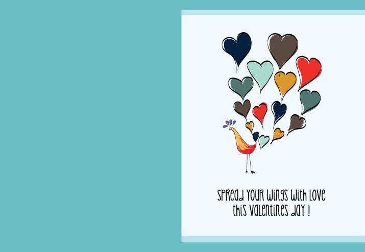 手绘情人节卡片设计矢量素材