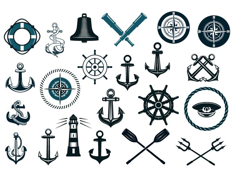 航海元素矢量素材(2)