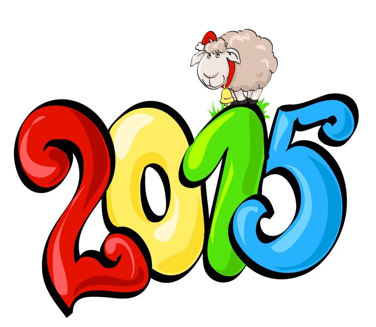 2015卡通艺术字矢量素材
