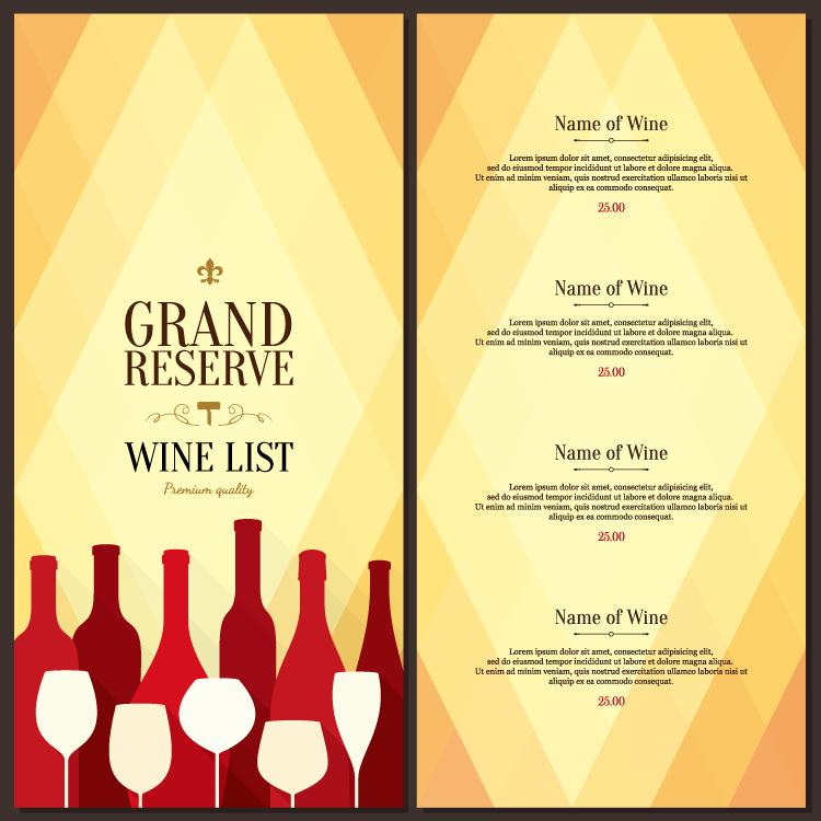 餐厅菜单模板矢量素材(2)