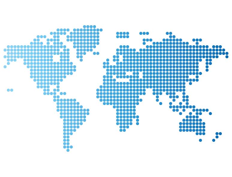 蓝色点阵世界地图矢量素材