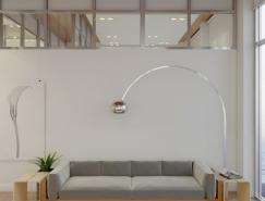 极简风格高层白色公寓设计