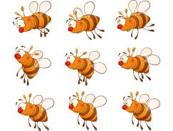 卡通蜜蜂矢量素材