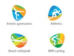 2016里约奥运会运动项目图标矢量素材