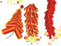 新年鞭炮PSD素材