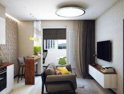 47平米一居室裝修效果圖設計