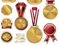 9款精致的金牌矢量素材