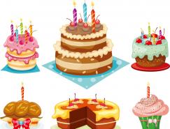 美味的生日蛋糕矢量素材