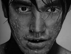 Paul逼真的鉛筆肖像畫作品欣賞