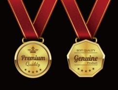 精致金色奖牌矢量素材