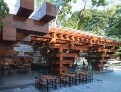 木質框架帶來通透光線:越南河內Cheering餐