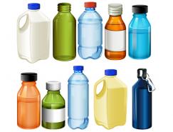 各种水瓶和运动水壶矢量素材