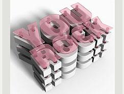 PS打造精美的3D層狀文字效果