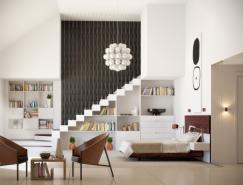 6个舒适柔和的卧室设计欣赏
